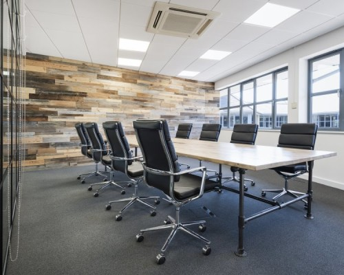 Project:    Timber Wall Cladding To An Office Fit-Out, Portsmouth